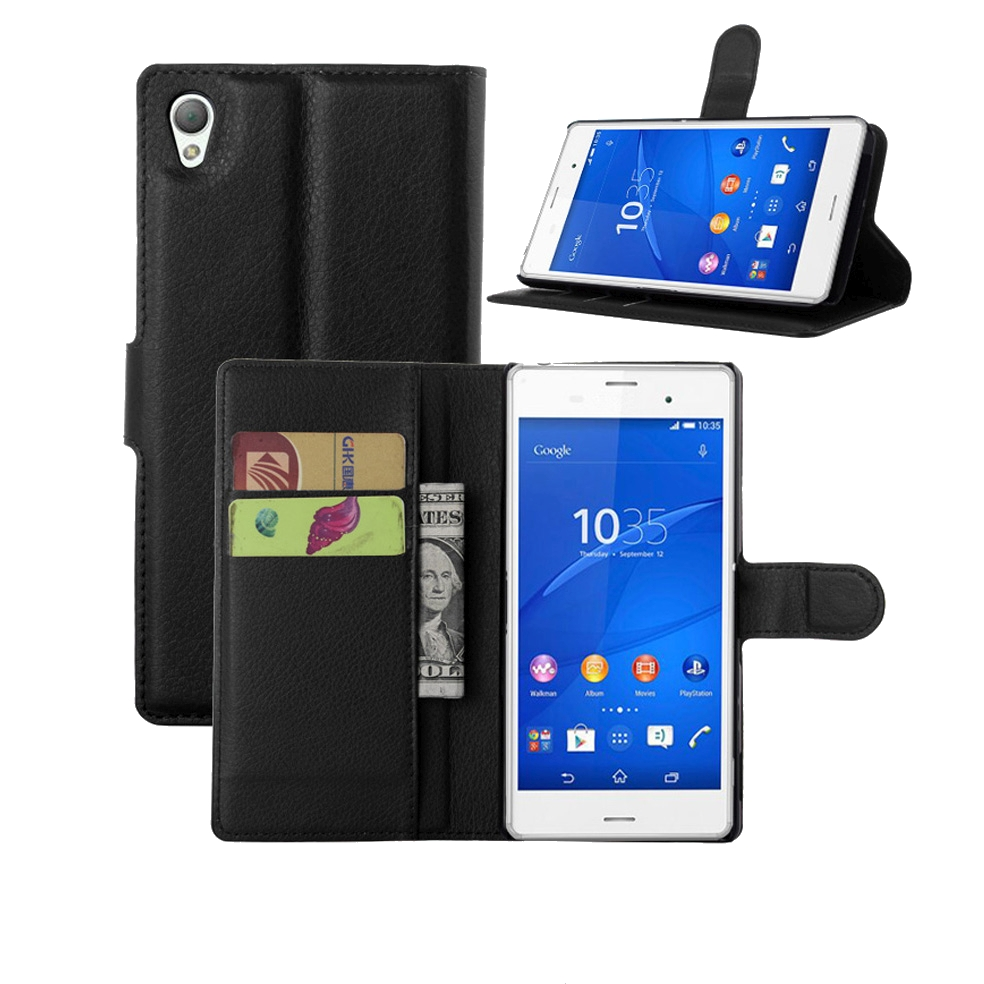 Sony Xperia L1 Plain Book Flip Cases
